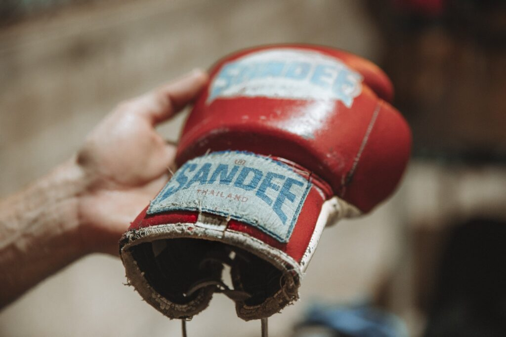 Boxing Glove for fighting muay thai in thailand