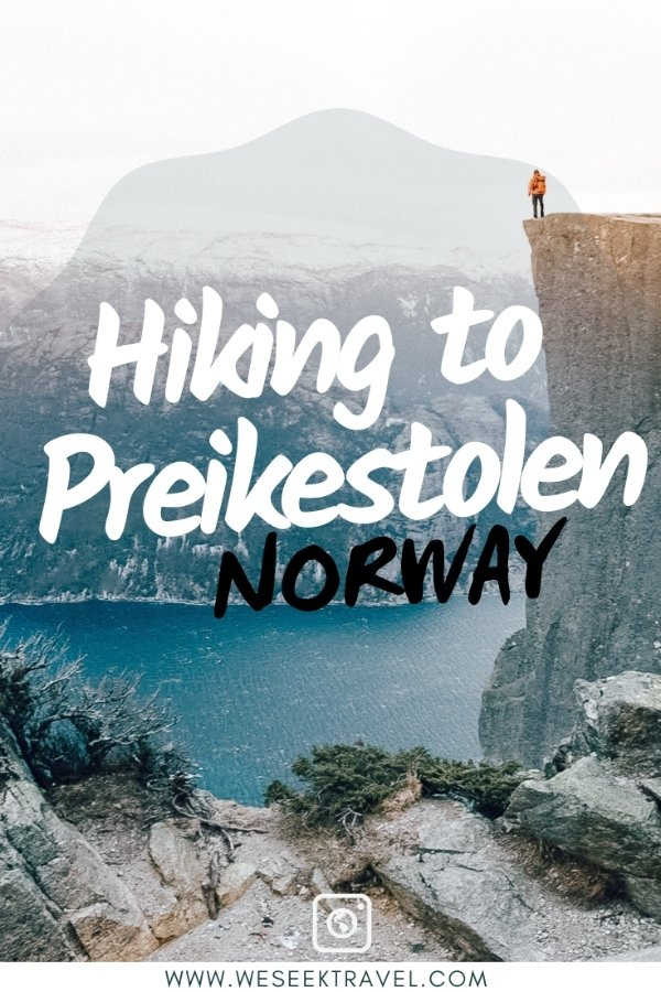 Pin it for later pinterest pin for hiking to preikestolen norway blog