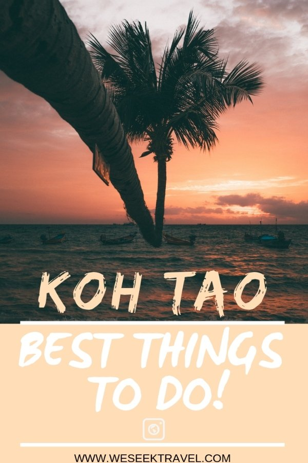 Pin it: Best Things to do on Koh Tao, Thailand Adventure Travel Blog Guide