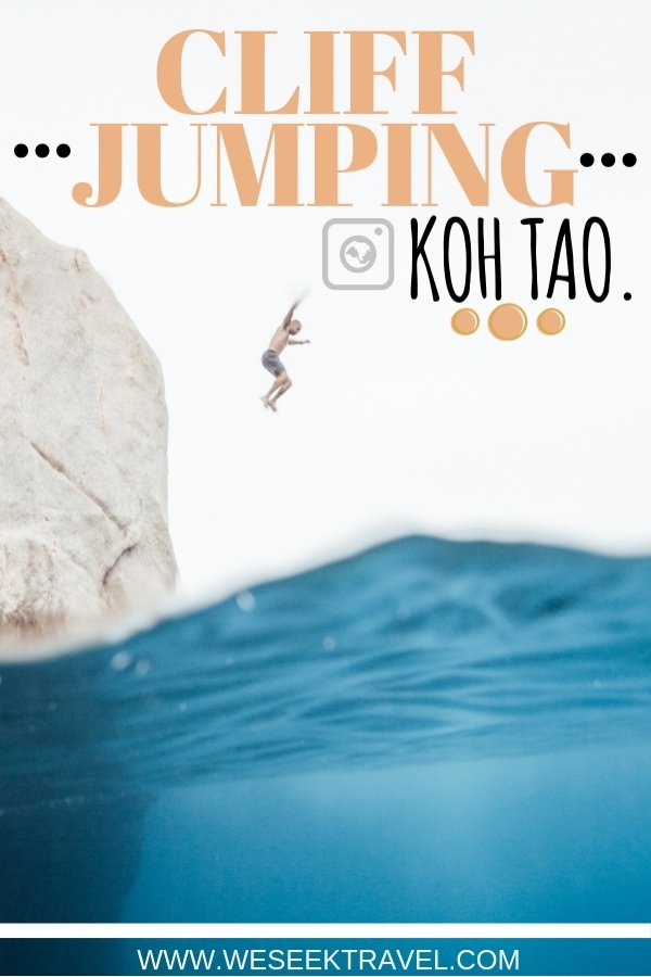 tanoe bay koh tao cliff jumping weseektravel