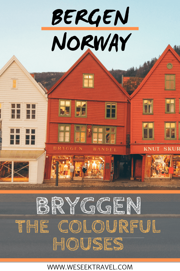 pinterest pin we seek travel for bergen norway colourful houses in bryggen
